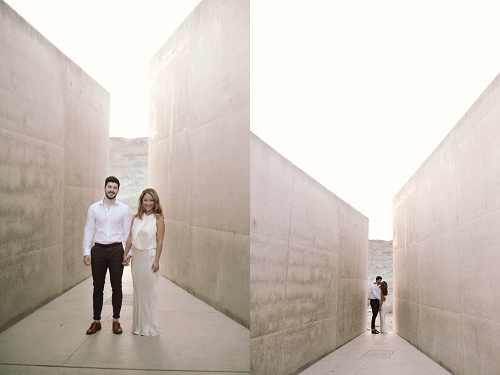 Couple getting engaged at Amangiri resort in Utah