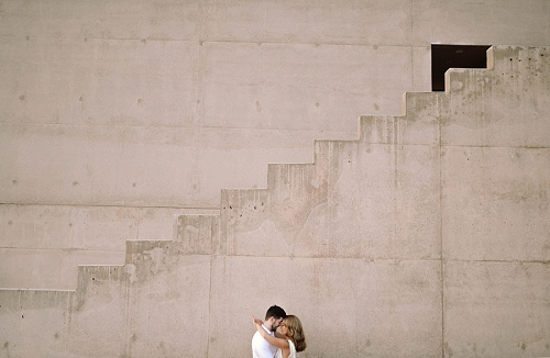 Couple hugging at Amangiri