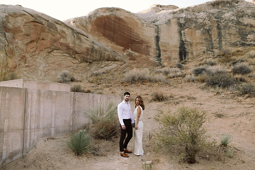 Couple has wedding at Amangiri wedding near Page Arizona