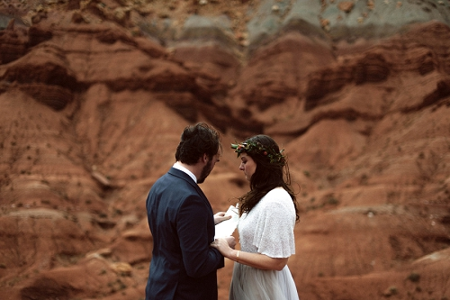 Couple shares vows in Utah desert