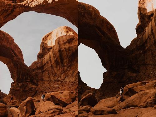 Couple engagement shoot in Moab, Utah