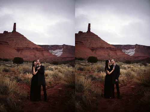 Engagement shoot at Castle Valley near Moab Utah