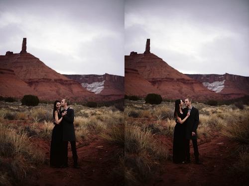 Engagement shoot at Castle Valley near Moab Utah