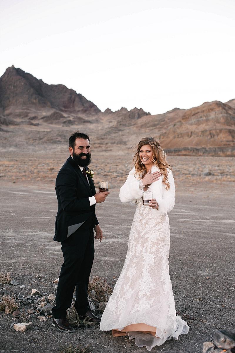 Couple celebrates their elopement in Utah