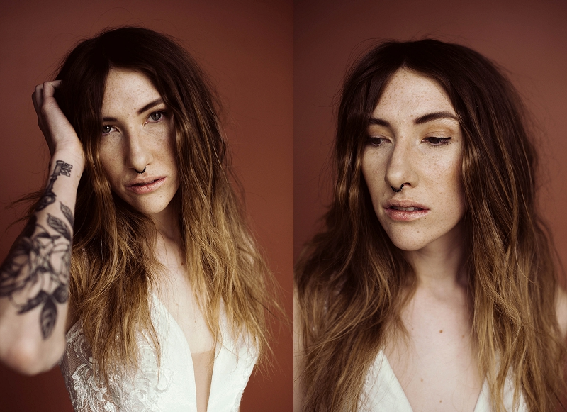 Simple elopement hair and makeup for wedding