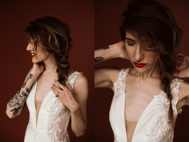 Low-key elopement braid hair idea for bride