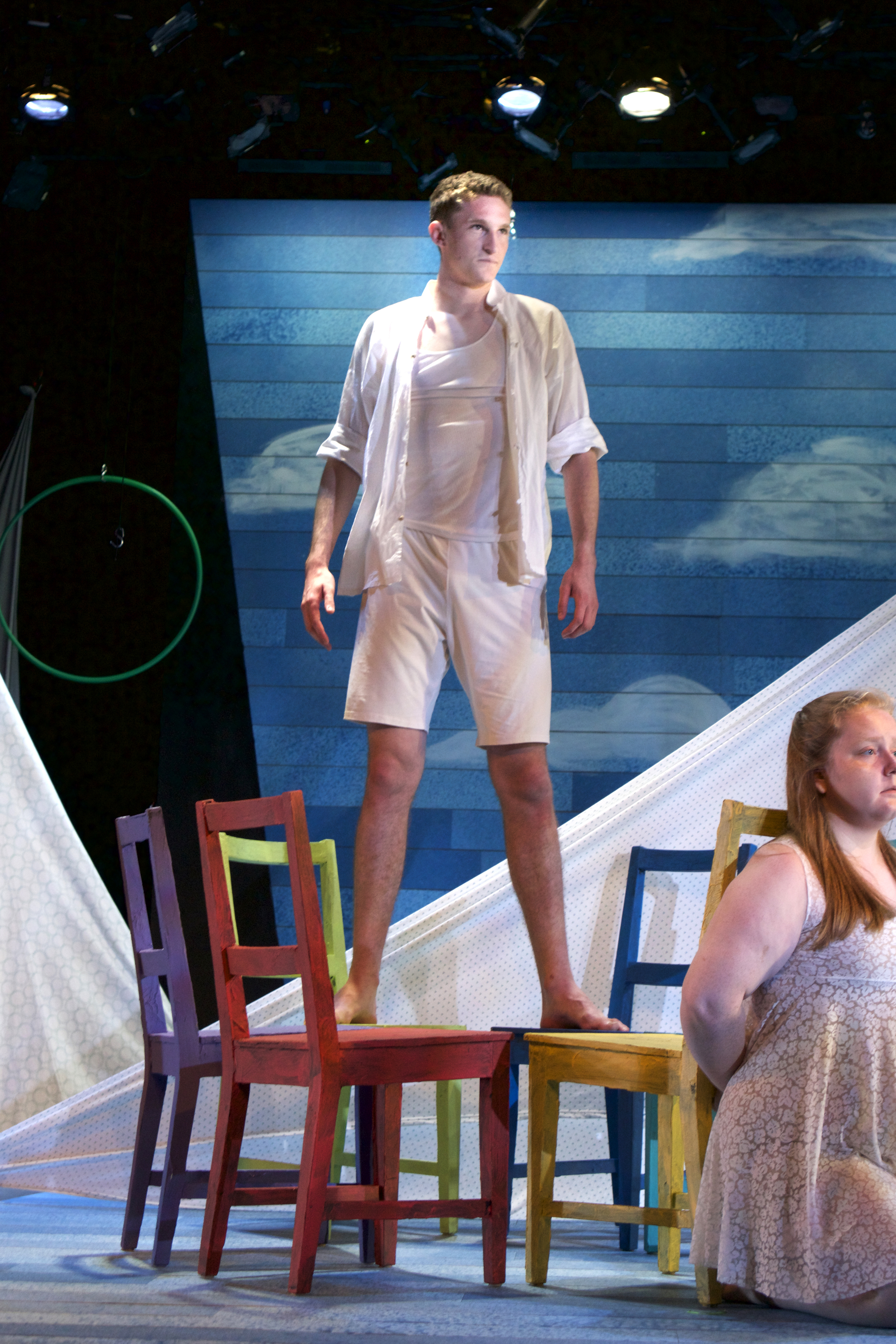 Company member Ross Barron as Ceyx in a scene from  Metamorphoses , which runs June 18-28 at the Hamilton Murray Theater