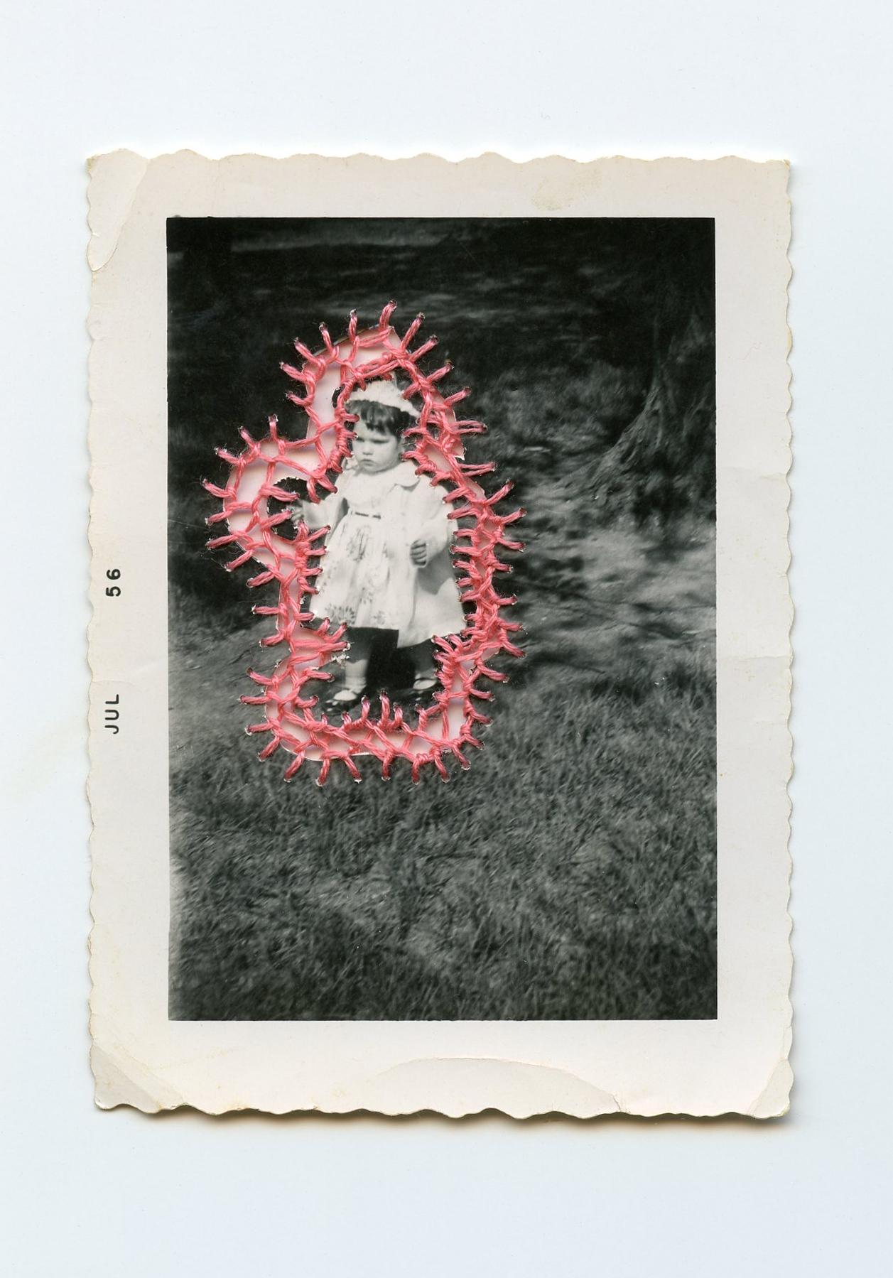 The Backyard   Vintage Photo Embroidery Thread