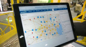 Figure 5 – When planning a visit to a metro area, a salesperson can log on to his CRM and quoting software, see a map of customers and prospects in the area, and automatically send out meeting requests. SixAxis first developed the software, called QuoteBooks, for its own sales team, and now sells it to others through its Atlatl subsidiary.
