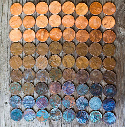 Copper will eventually oxidize and patina, which can be beautiful!