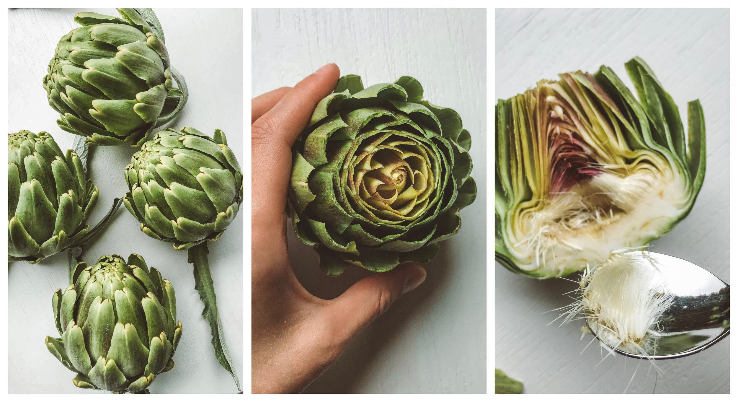 How to prepare globe artichokes