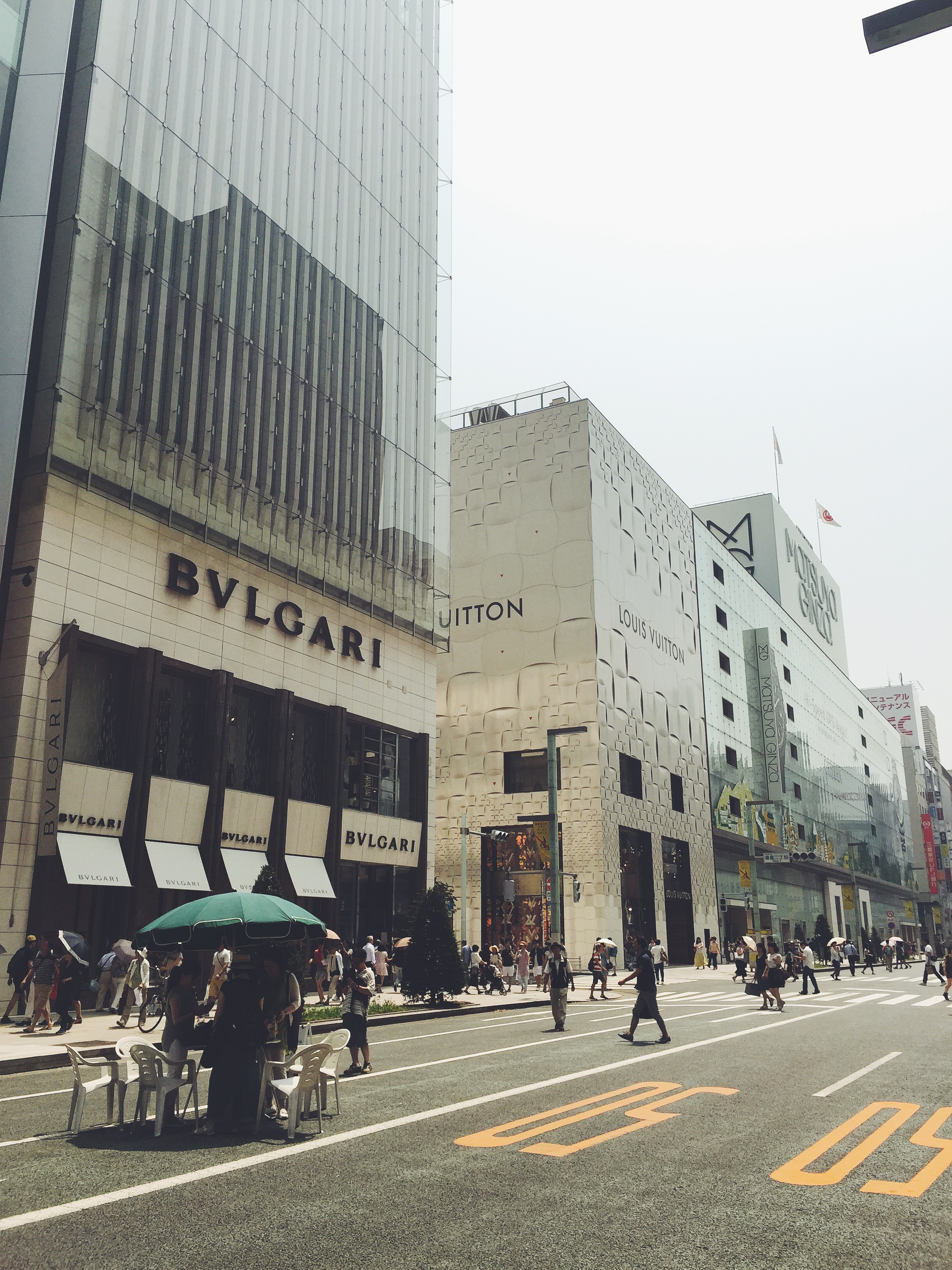 Ginza: ritzy