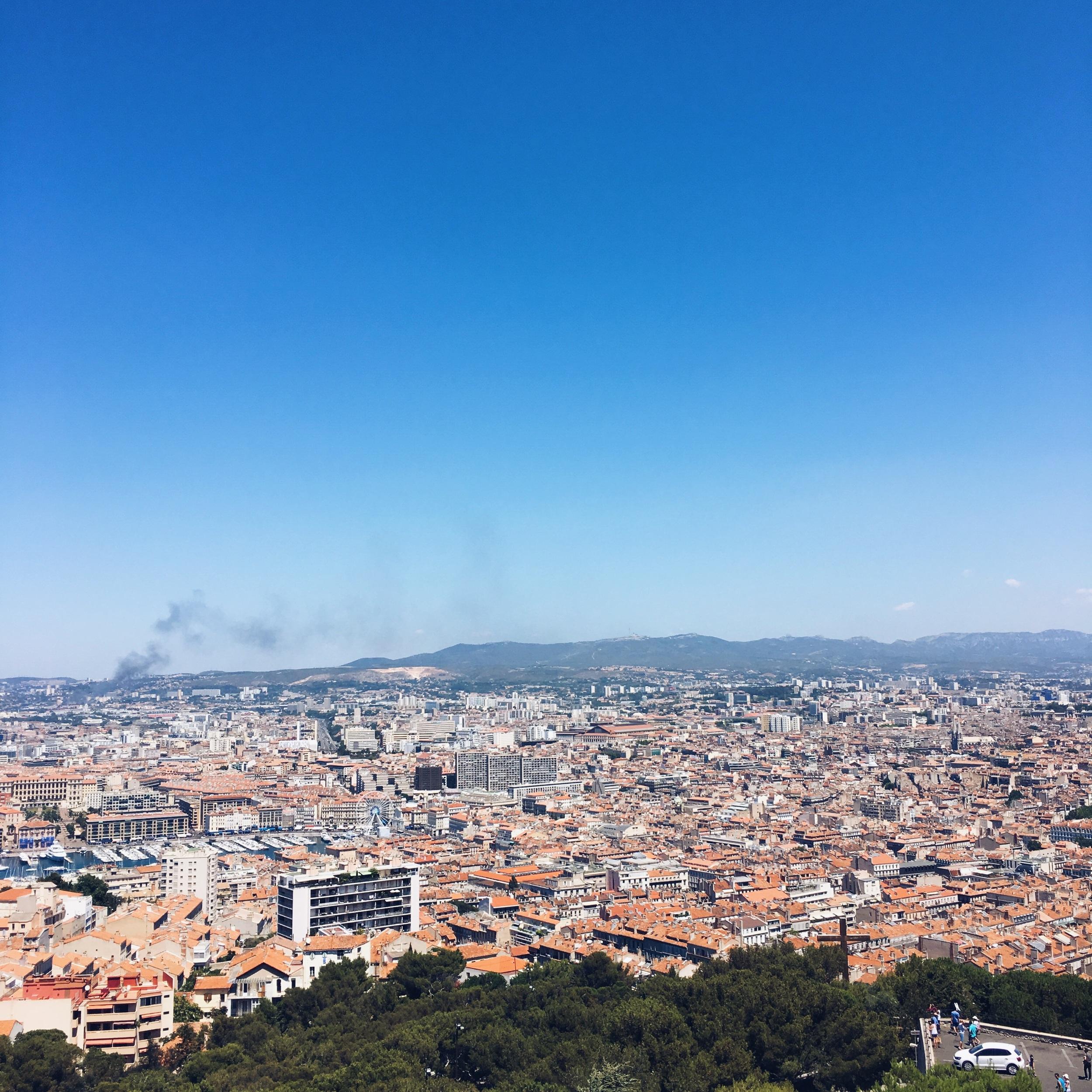 Views from Notre Dame de la Garde of Marseille