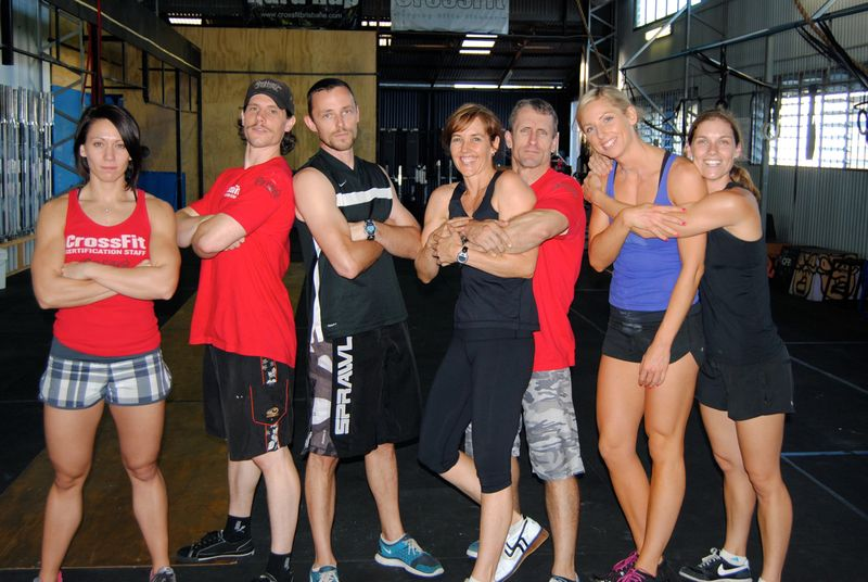 CrossFit Brisbane circa 2011 - fun times with good people: Miranda, Boz, Danny, Wendy, Matt, Lily and Kate
