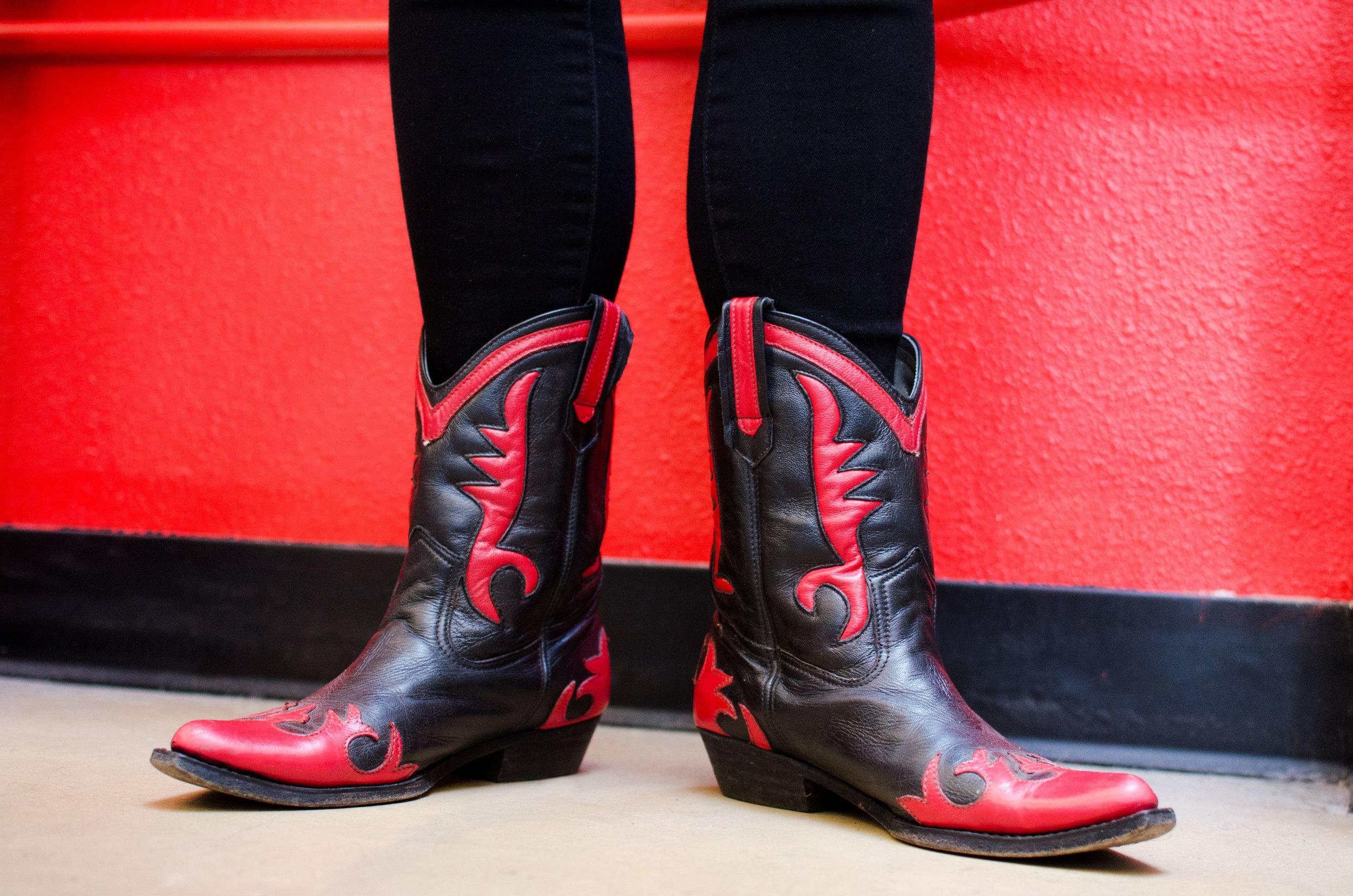 Portland Portrait - Red Cowboy Boots