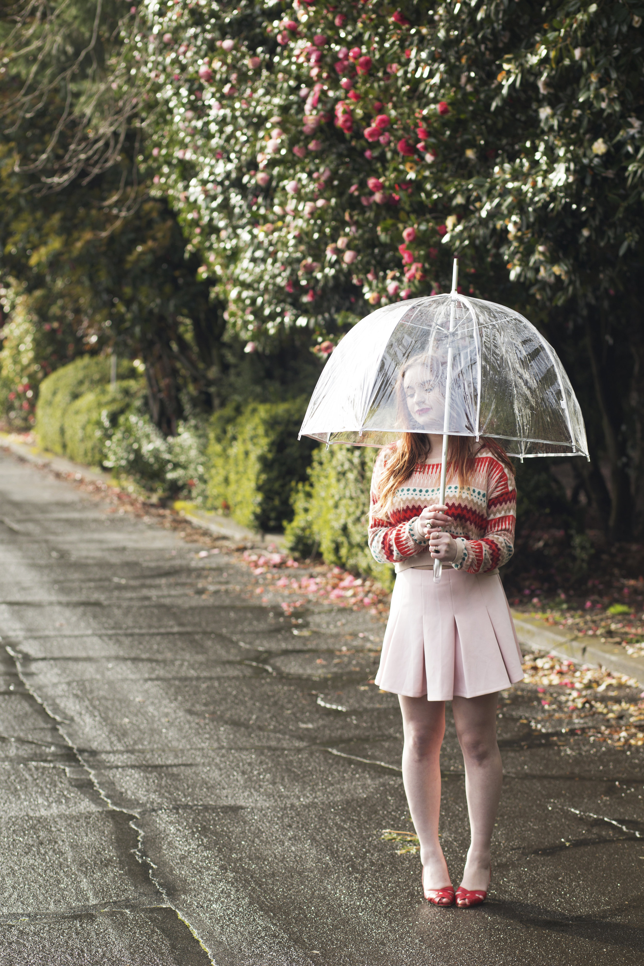 Rainy day photo session at Laurelhurst Park.