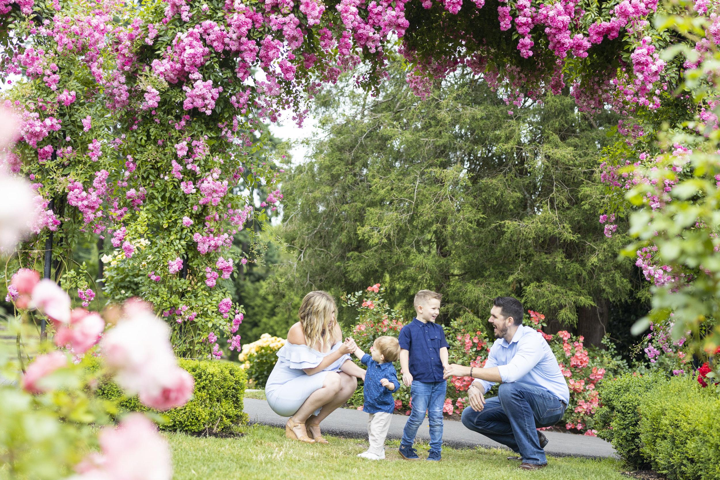 Sofia Angelina Photography International Rose Test Garden Portland Oregon Family Photography Session