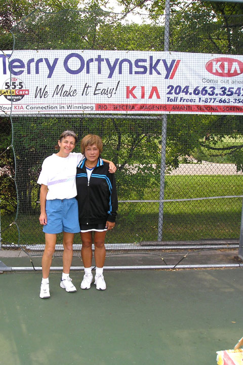 Danielle Parent, winner of the 4.5 Ladies Singles event, and Dina Culangan, runner-up.JPG