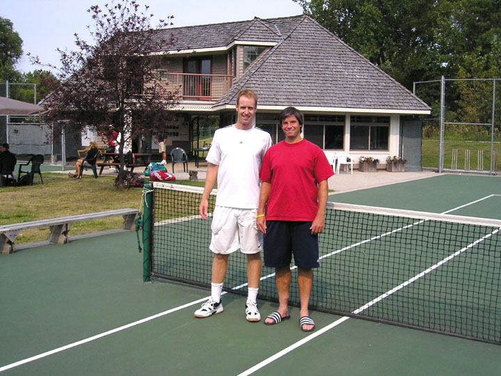 Evan Mancer and Jared Connel finalists in the Mens Open Singles  won by Jared.JPG