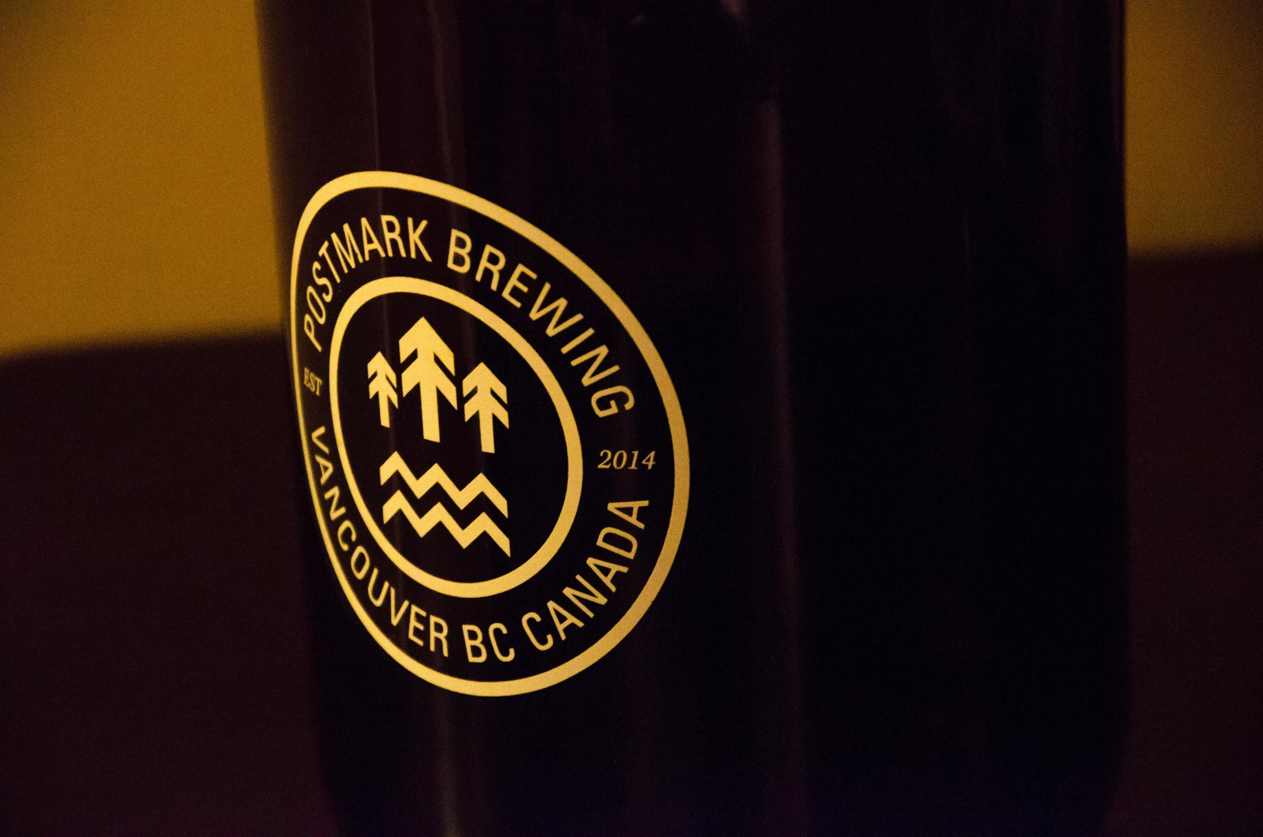 Growler courtesy of Vancouver's finest - Postmark Brewery