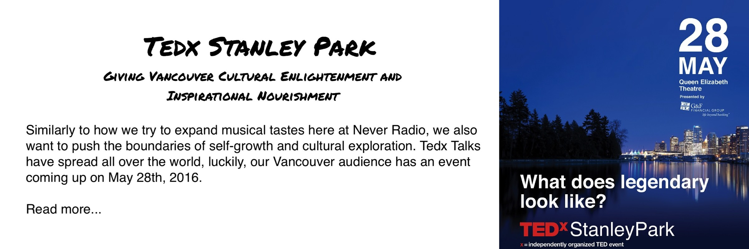 Tedx Stanley Park Vancouver