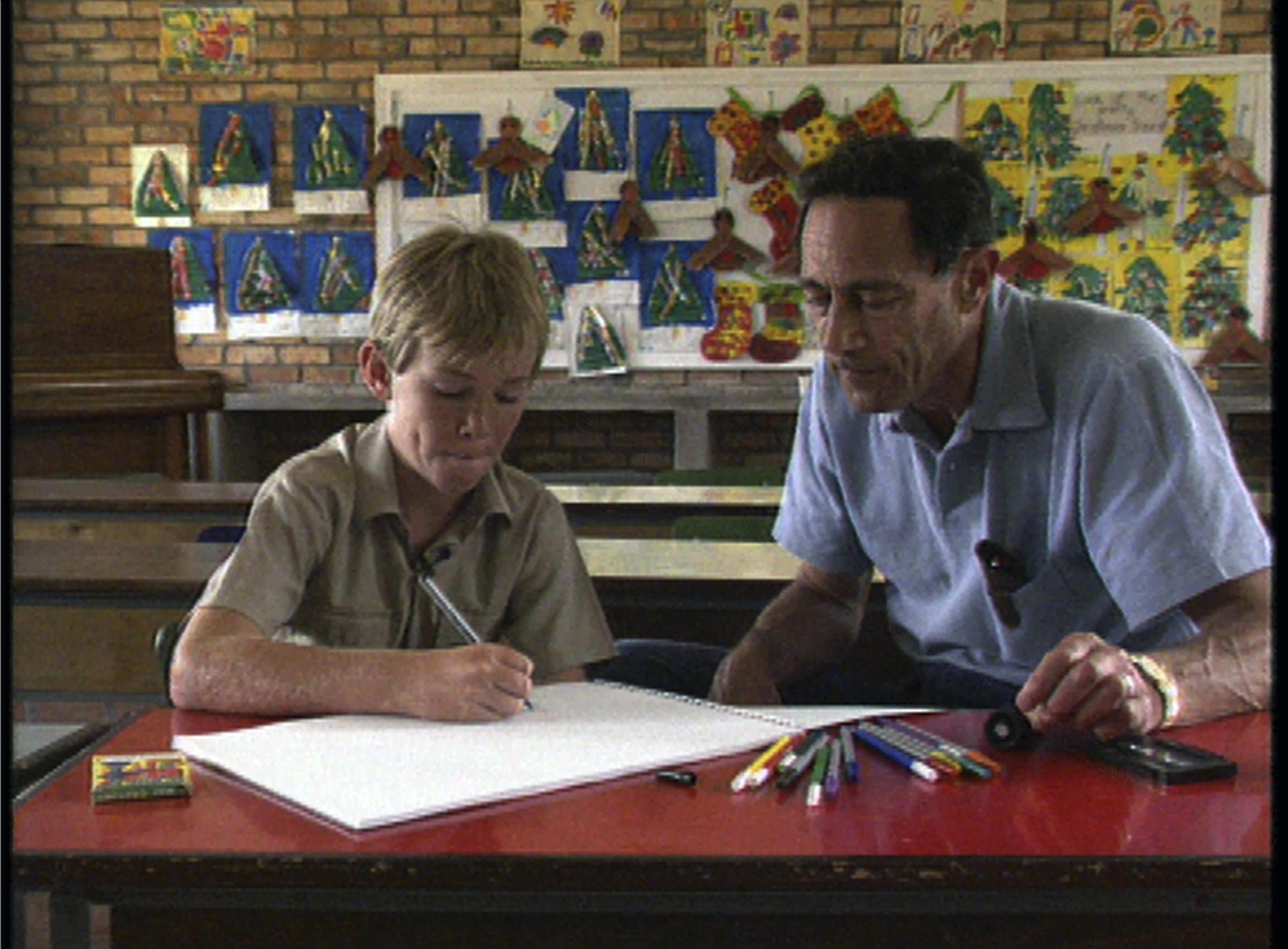 Dr. John Mack interviewing Bart, Grade 7