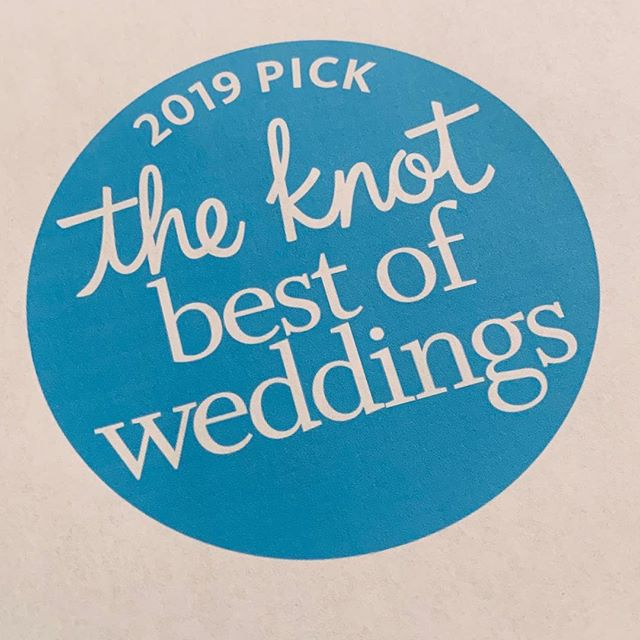 So it's June 19th and I'm a little late posting our award. (Ok 6 months isn't a little late) but it's never too late to share good news, right? Congratulations to all our couples celebrating their wedding this weekend. 🥂