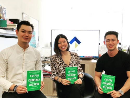 With  Cryptocurrency Wizards  authors, KC (left) and Shaun (right) of DigixGlobal.