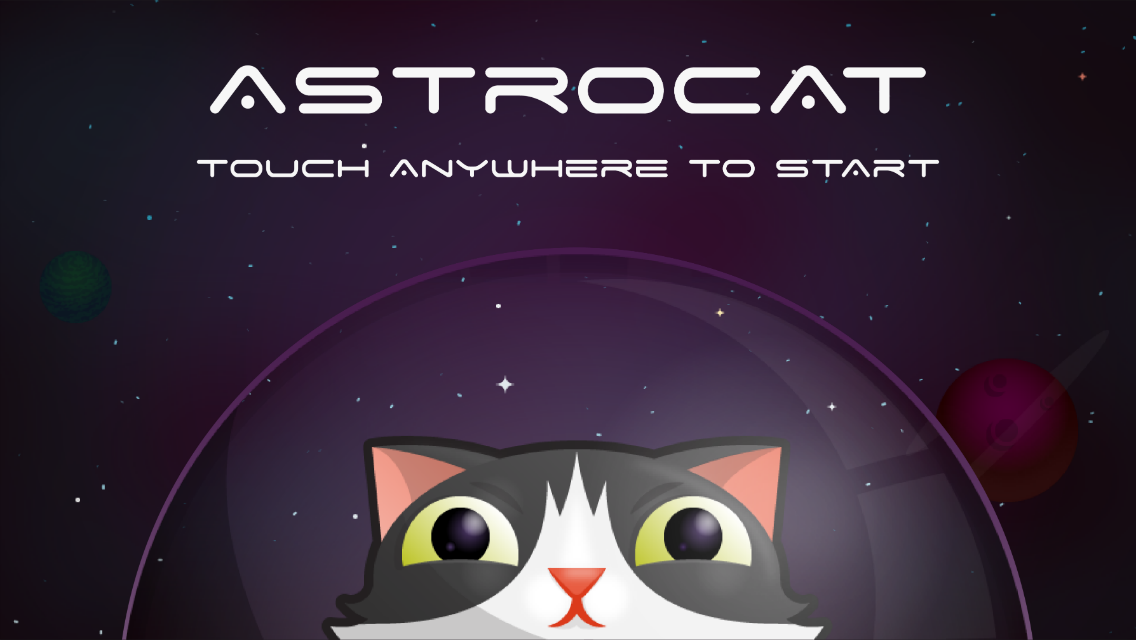 AstroCat - Title Scene