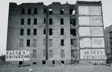 Falsas Promesas Broken Promises, South Bronx, 1980. Photo: John Fekner