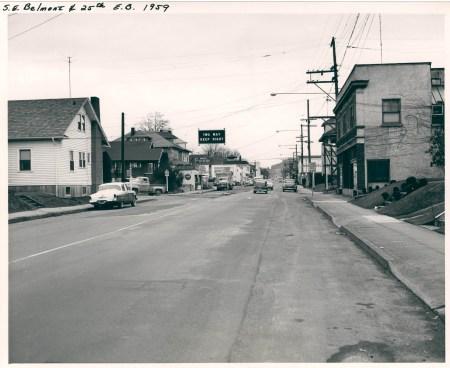 25th & Belmont, 1959