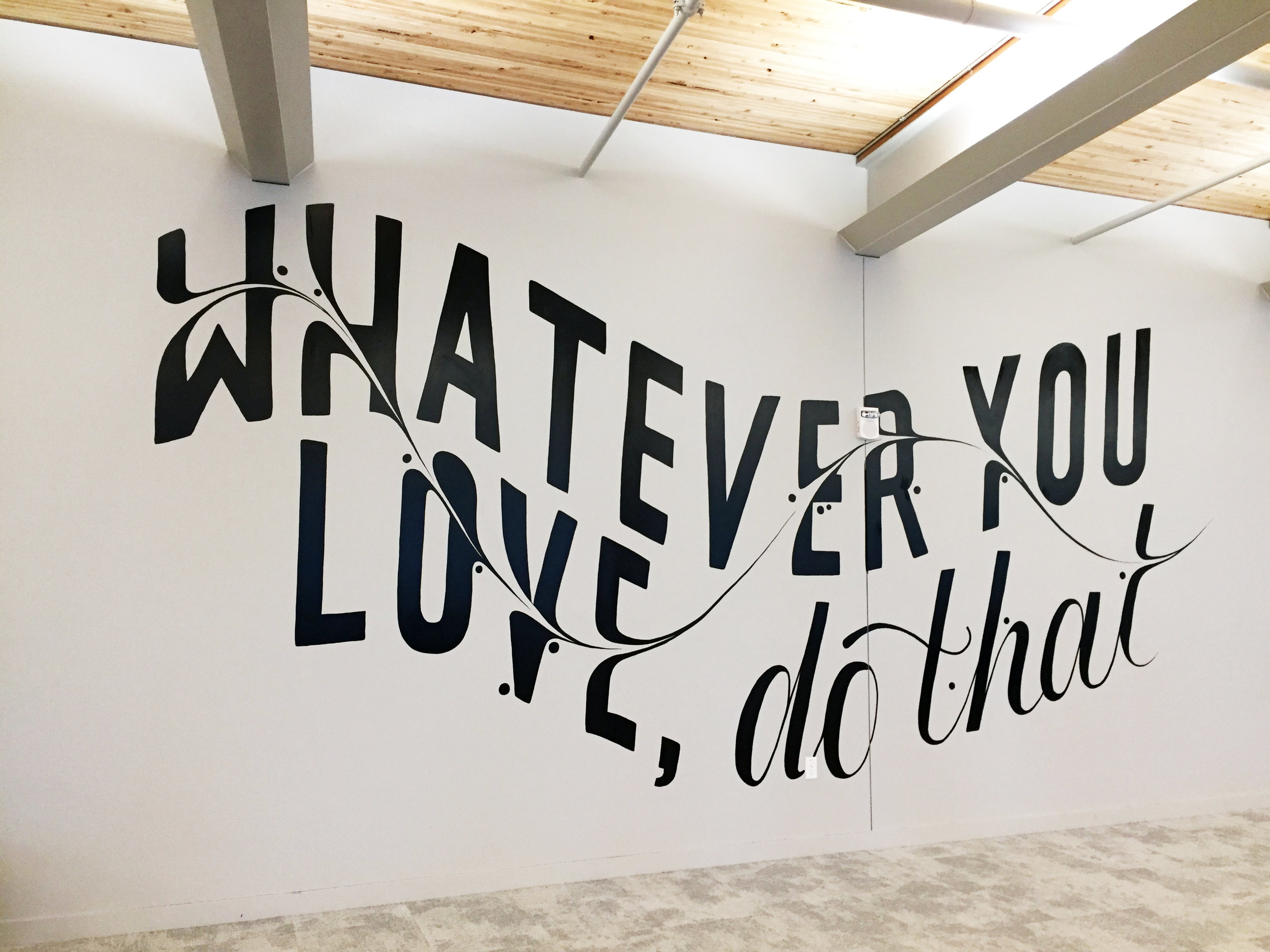 Typography Mural by Katie Beasley.