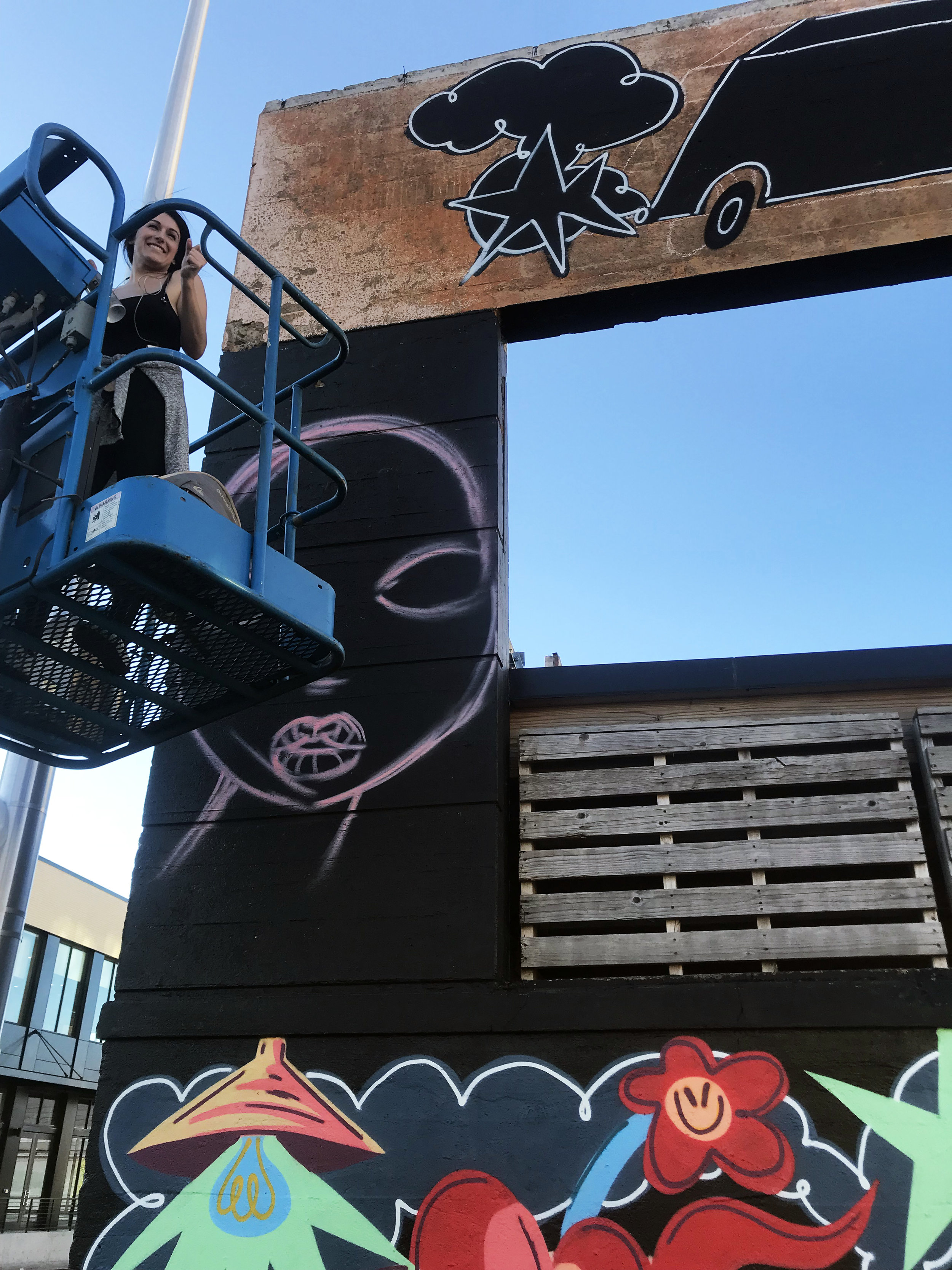 Tiffany Conklin @pdxeveryday - WIP Mural by Amanda Valdes.JPG