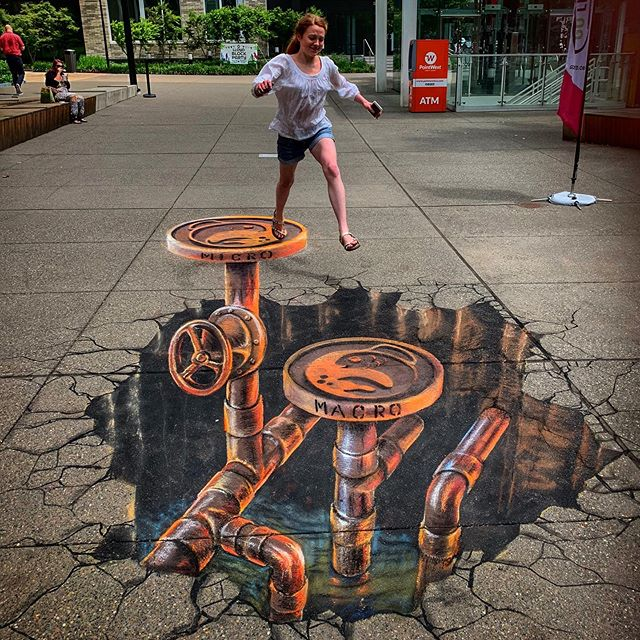 Absolutely groundbreaking 3D chalk art by @naomihaverland happened last week for @golloydpdx Sidewalk Chalk Art Festival! We're so excited to connect with this new artist who really makes these wild interactive effects happen. It takes a lot of geometry, space, knee pads, and patience!  #naomihaverland #gollyodpdx #psaacommissions #pdxstreetart #portlandstreetart #pdxart #3dchalkart #chalkart #chalkartfestival #portlandoregon #portlandstreetartalliance