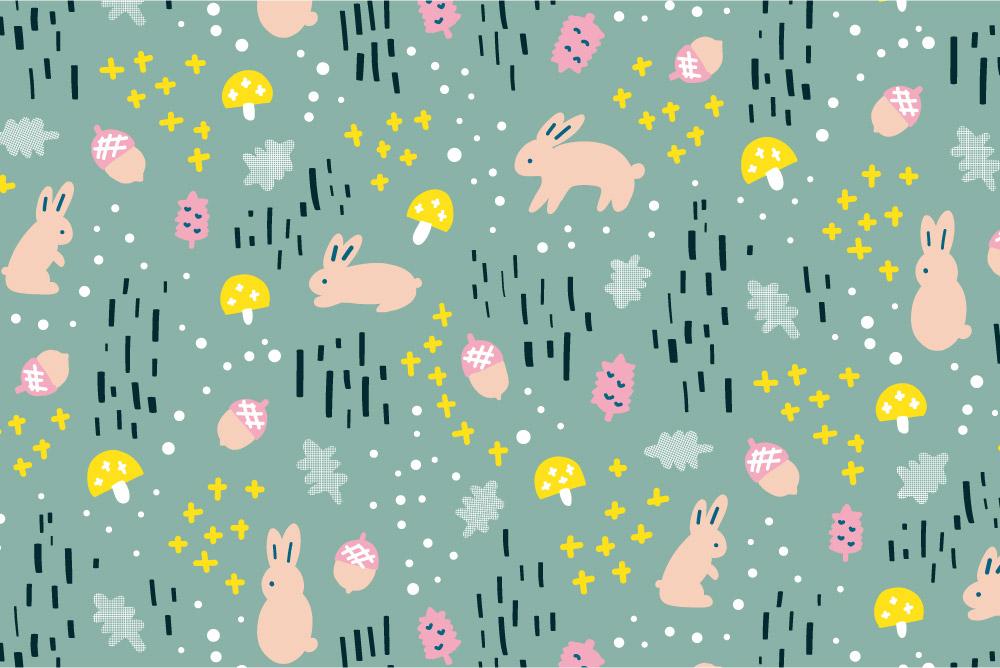 Woodland Bunny-green