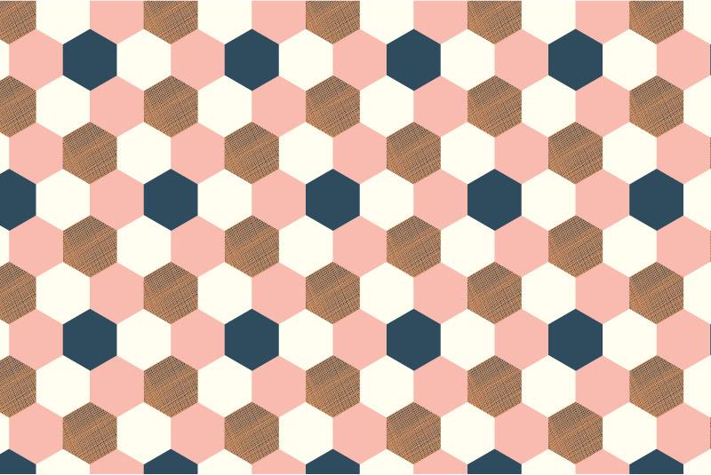 Hexagons-pink