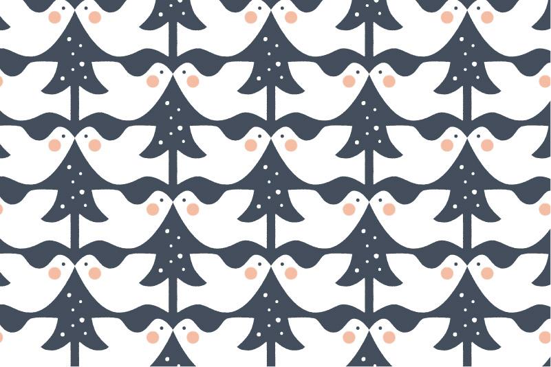 Snowy Dove-navy