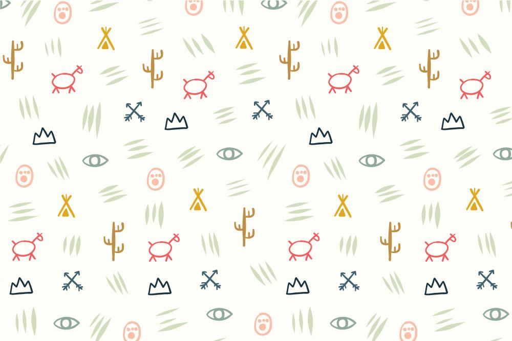 Tribal Symbols-cream