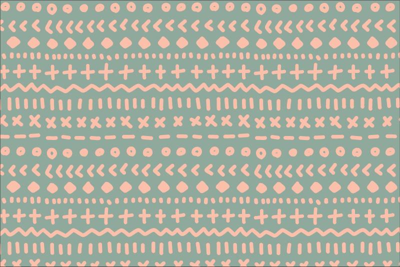 Tribal Scribbles-mint