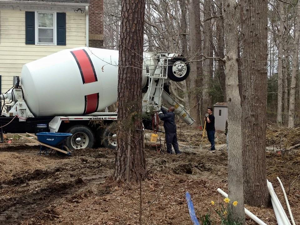 Concrete Truck on site