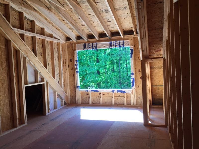 Framing the shed dormer.