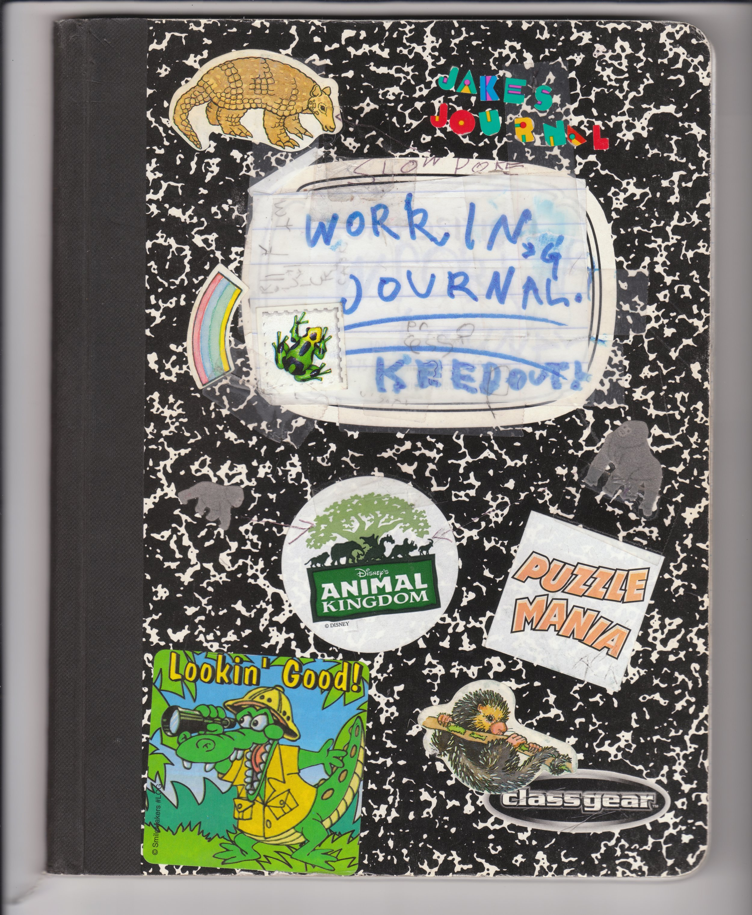Working Journal (undated, c.2002)