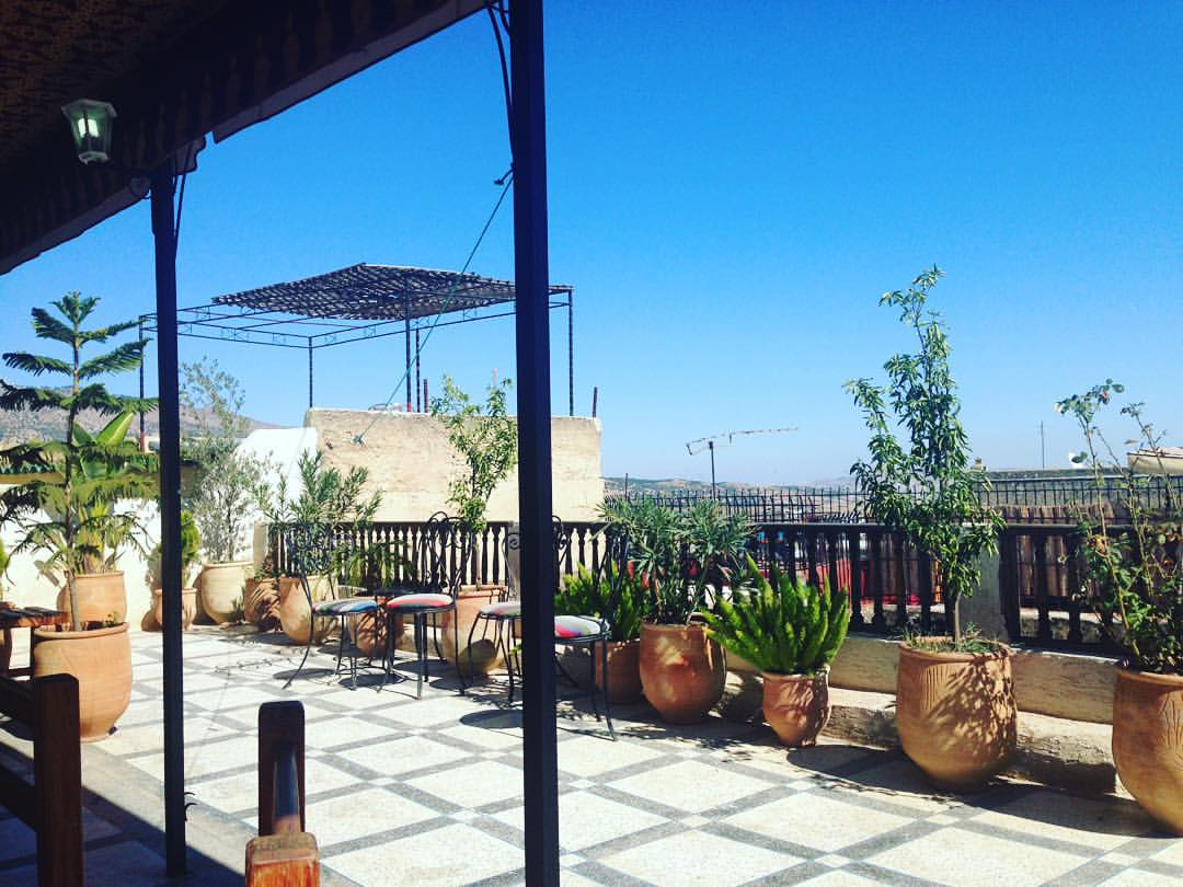 The best place to be in the world today- or so it feels 👌🏽 #Rooftophangs with my Moroccan Sister @ashleybeer   #Morocco #Fes