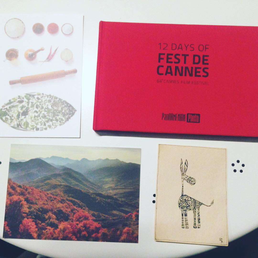 Gifts from my talented Armenian friends. Postcards made by Areg, drawing also by Areg and book from behind the scenes of Canne festival from Vahan! Too generous!!! 📷📷📷👌🏽👌🏽👌🏽✨