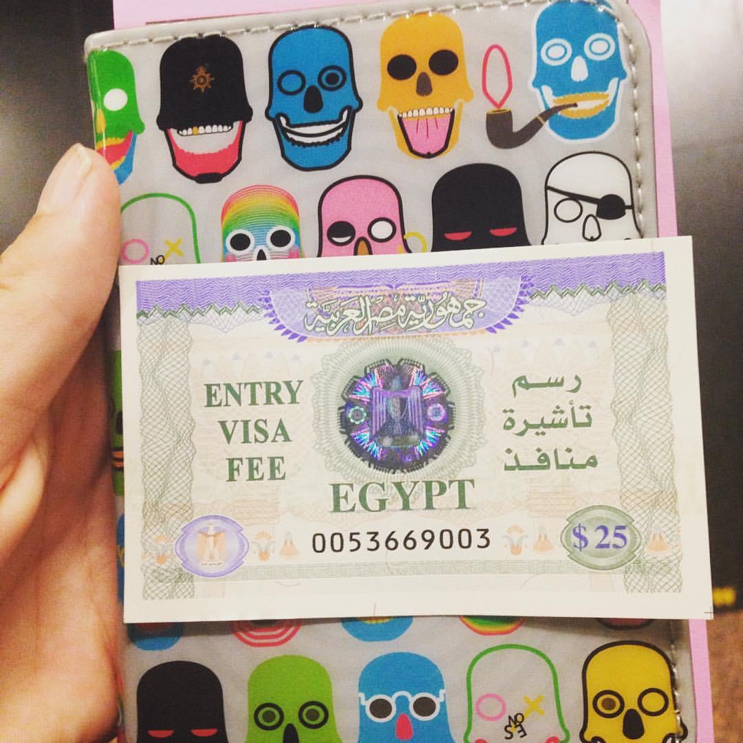 Pretty Egyptian visa 😍