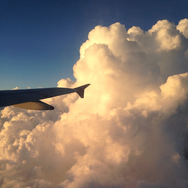 It's always sunny above the clouds 🌞🌅⛅️👌🏽✈️ #nextadventure