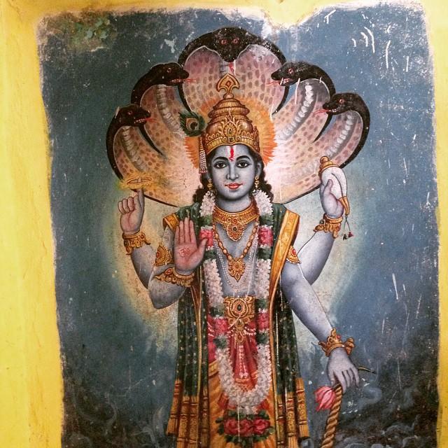 Indian Temple Art of #Hindu God #Vishnu 🙏🏾