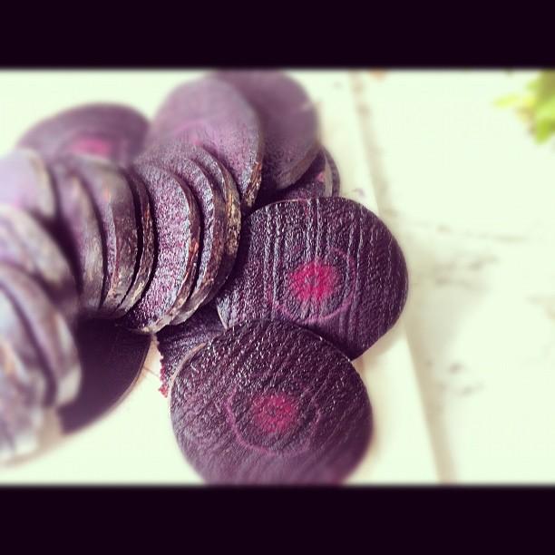 Purple carrots  (Taken with  instagram )