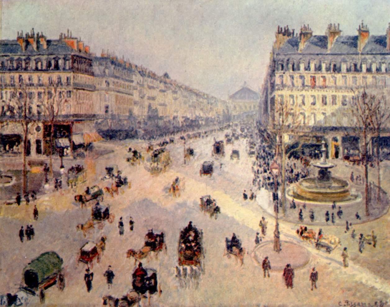 Avenue de l'Opera - Camille Pissarro, 1898