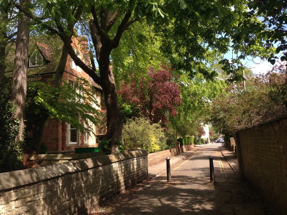 Summertime on Church Walk leading to North Parade